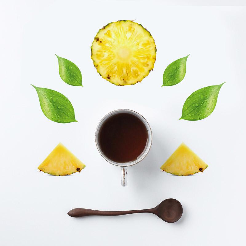 Te verde con ananas